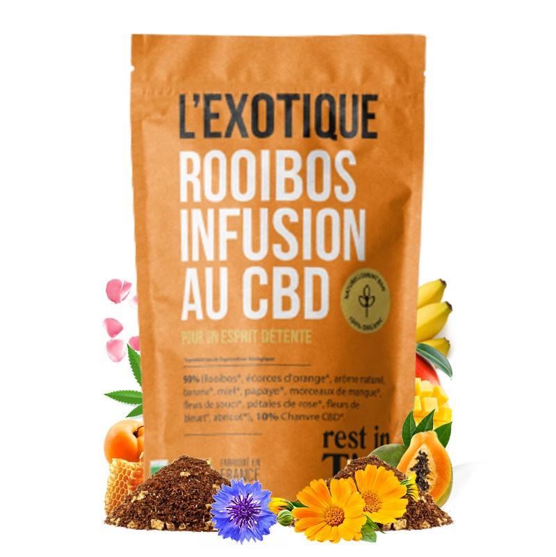 tisane cbd rooibos exotique