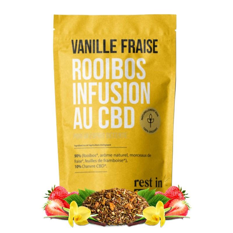 infusion cbd vanille fraise